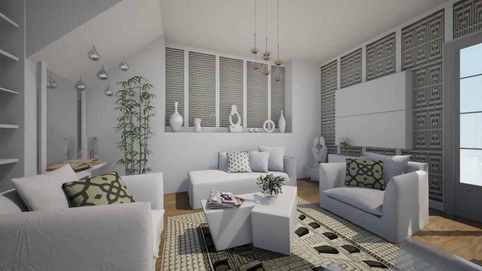 White living - Living room - by milyca8