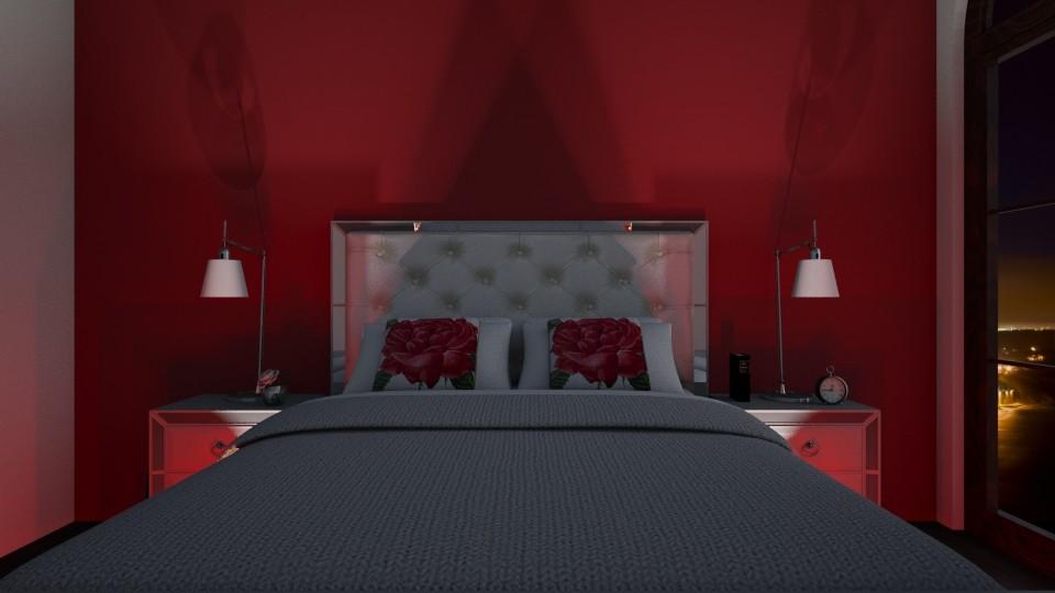 red bedroom - by cuneyt oznur