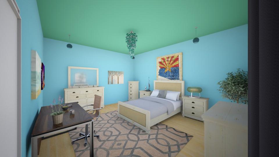 blue room - Feminine - Bedroom - by ariaw