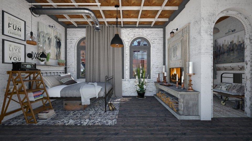 Industrious - Eclectic - Bedroom - by starsector