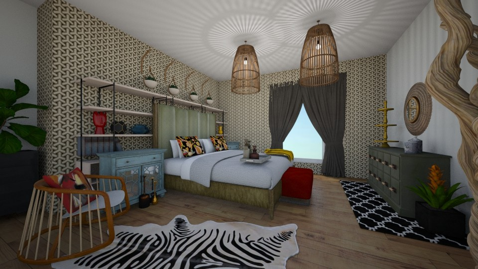 electic bedroom - Eclectic - Bedroom - by abbysrooms