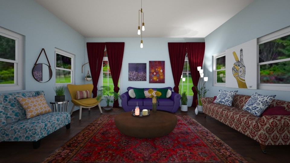 Bohemian Living Room - Country - Living room - by imgoodatusernames