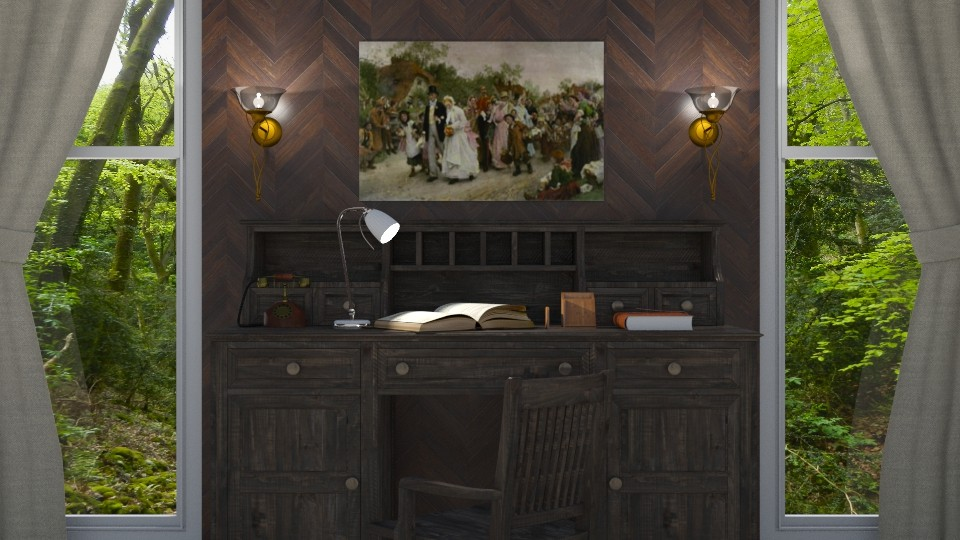 Rustic Office - by LaModeCeleste