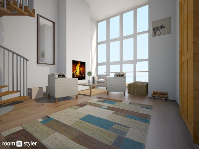 fire - Living room - by goolonka