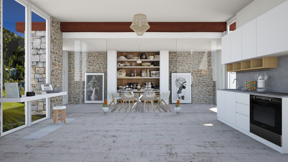 Glass and Bricks - Living room - by seth96