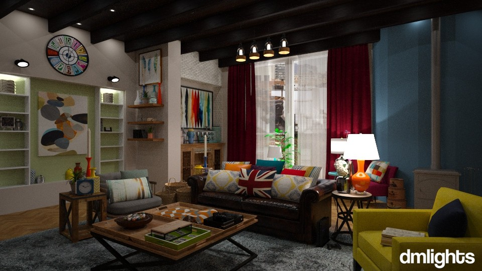 Gurski - Eclectic - Living room - by DMLights-user-1303496