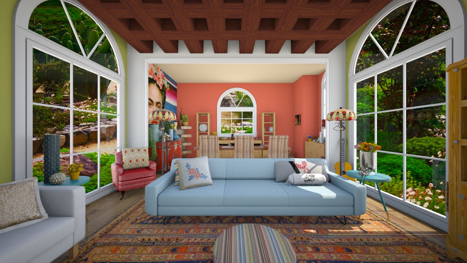 mexican desing - Living room - by diana villa