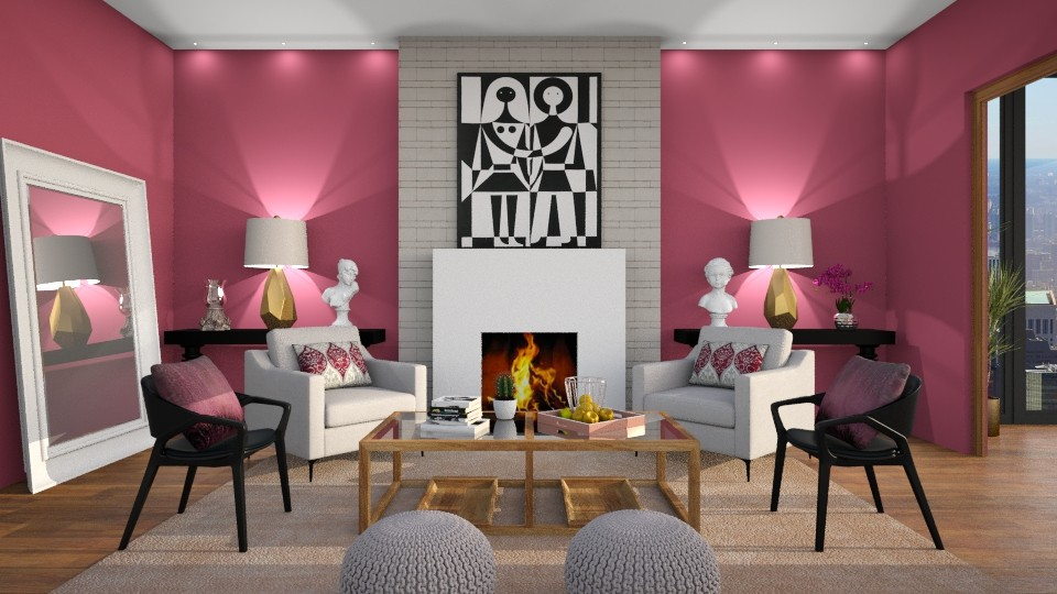 Symmetry - Living room - by DeborahArmelin