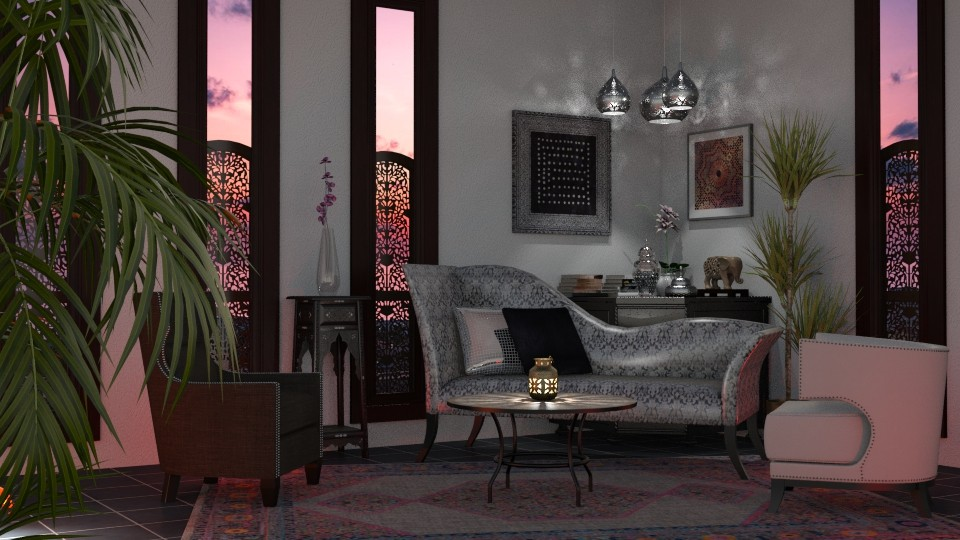Pink Sunset - Living room - by GraceKathryn