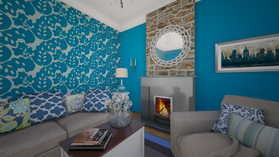 Blue Heaven - Living room - by nellica