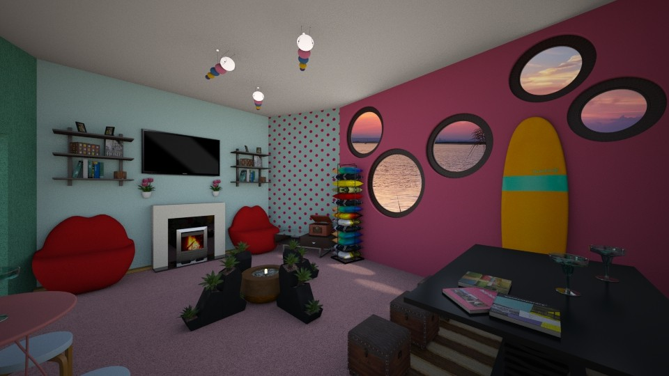 Retro_Loft_Contemporary - Eclectic - Living room - by PAPIdesigns