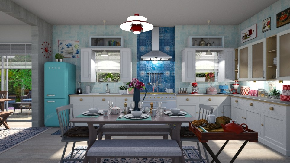 Eclectic Kitchen - Eclectic - Kitchen - by  krc60