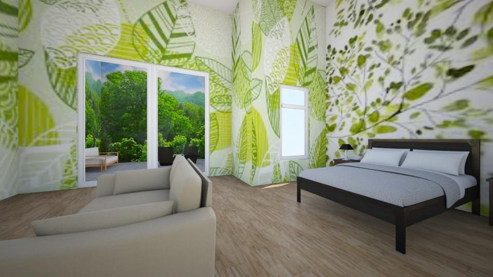 Leaf Bedroom with Deck - Bedroom - by VibrantSplash