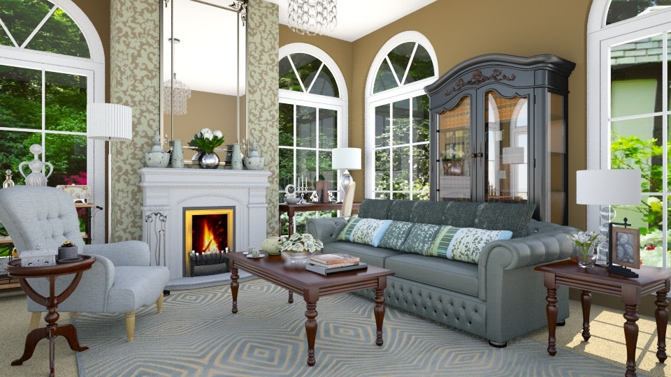 Greenwich CT Sitting Room - Living room - by LadyVegas08