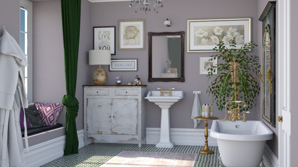Boho bath - by Lizzy0715