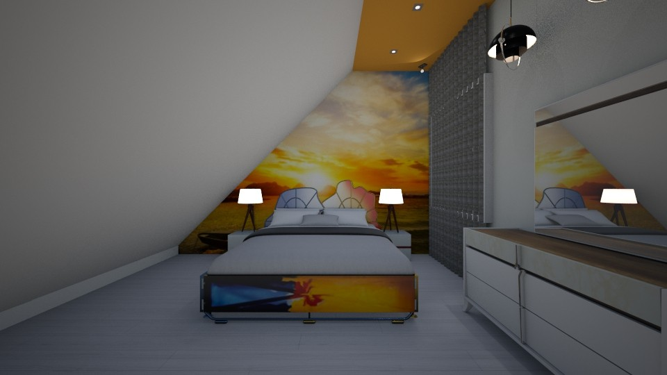 Attic Sunset or Orange - Bedroom - by jaiden2006