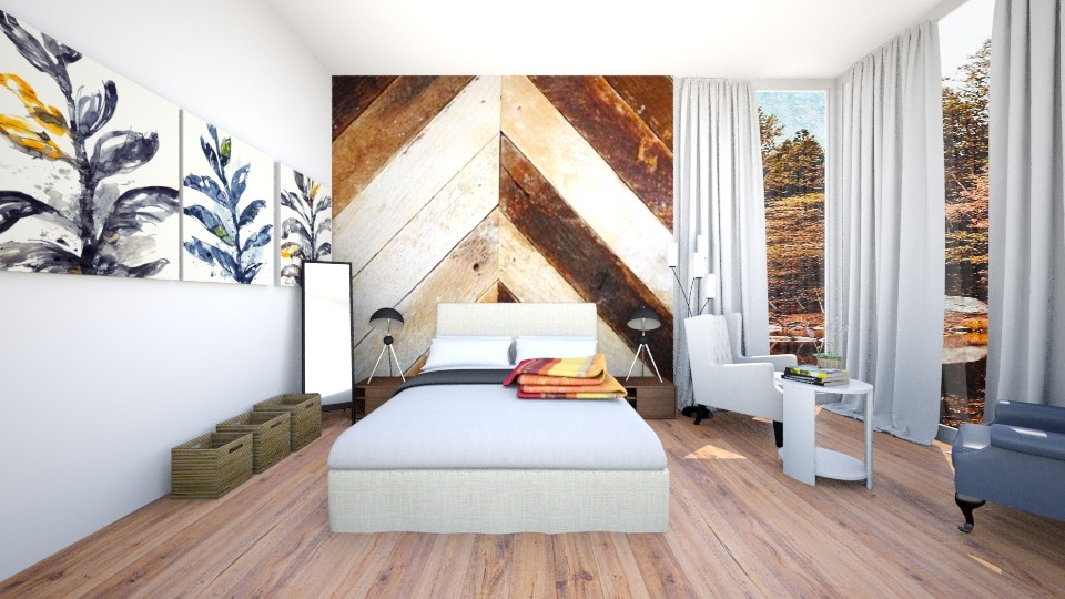 blue shade - Bedroom - by OpoPulis
