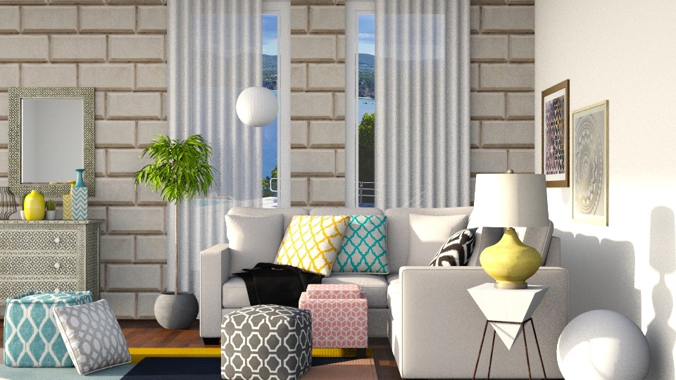 geometric patterns - Living room - by Vlad Silviu