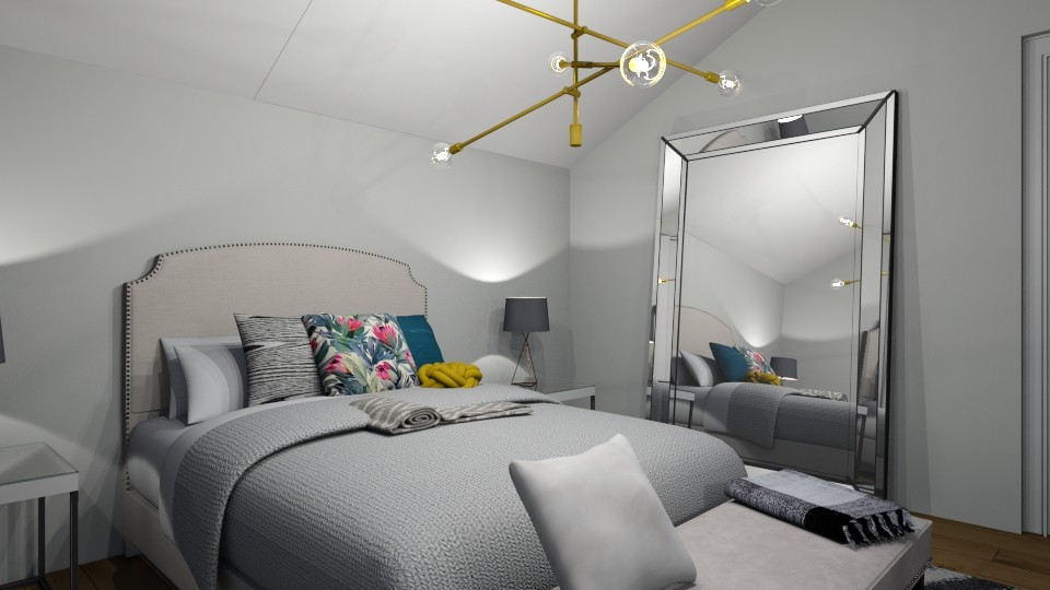 atic bedroom - by nazlazzhra