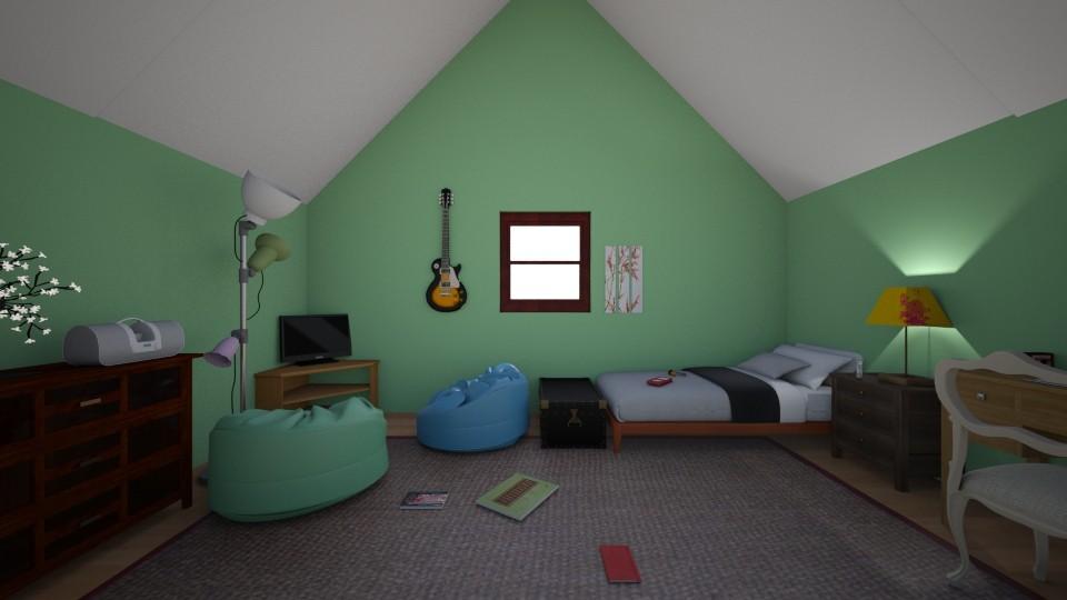 Attic Bedroom - Bedroom - by Jessica Lyn