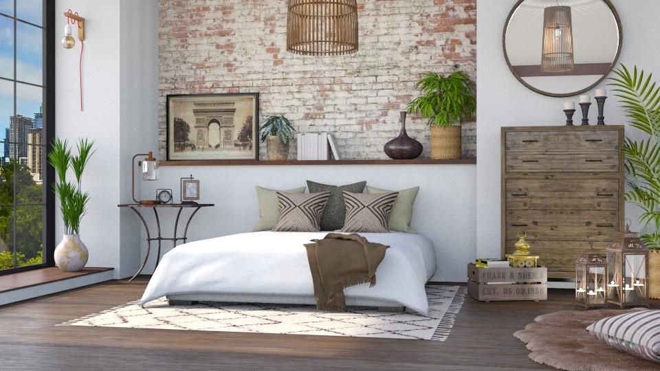 eclectic bedroom - Bedroom - by LB1981