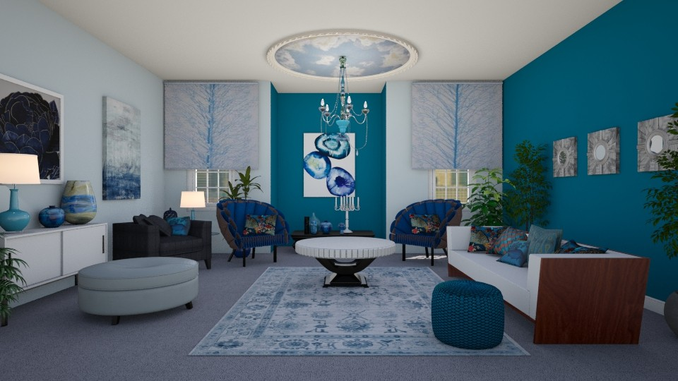 Blue Nature - Living room - by KarmaKitten