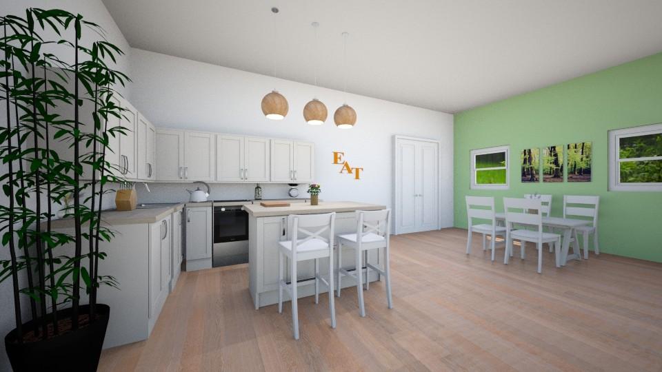 Rustic Yet Modern Kitchen - Kitchen - by kyramargarete19