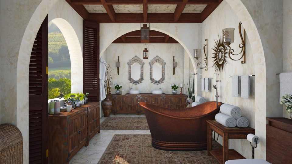 Design 105 Tuscan Bath - Bathroom - by Daisy320