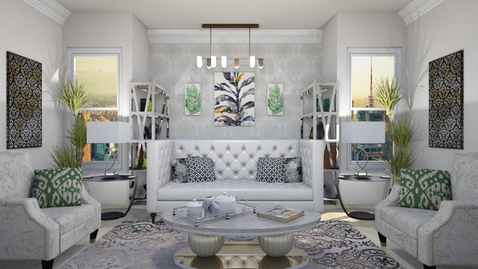 symmetry - Living room - by wafaabdi