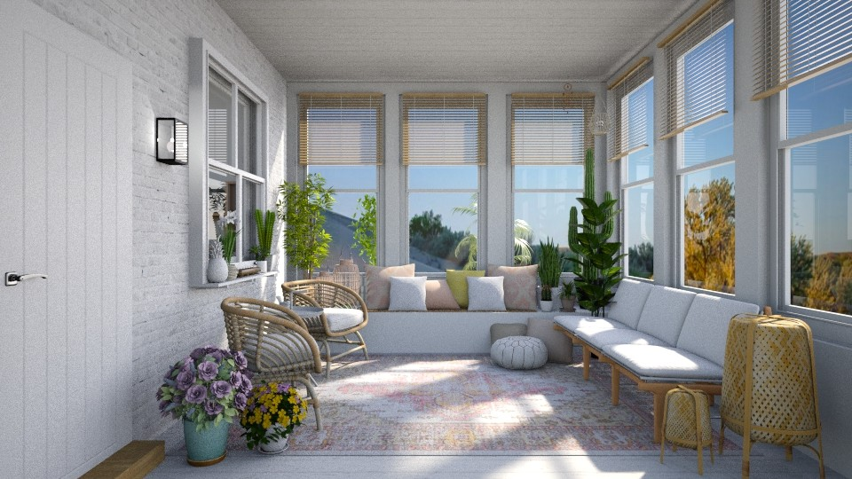 Boho Sunroom - by smunro7