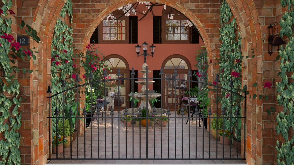 Design 45 French Quarter Courtyard - Garden - by Daisy320