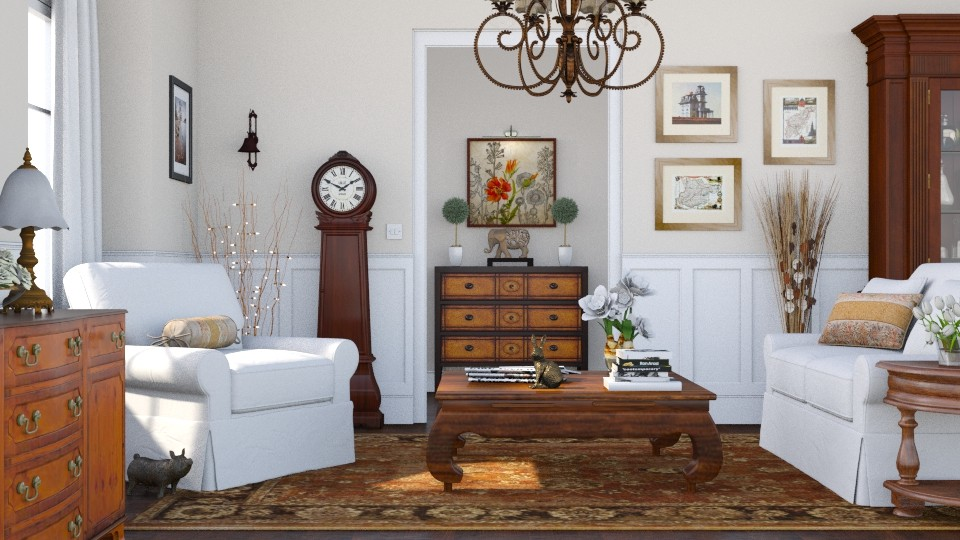 Country Living Room 2 - Living room - by GraceKathryn