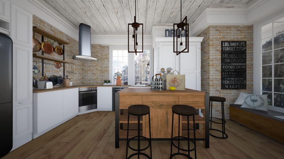 LT Kitchen - Retro - Kitchen - by liling