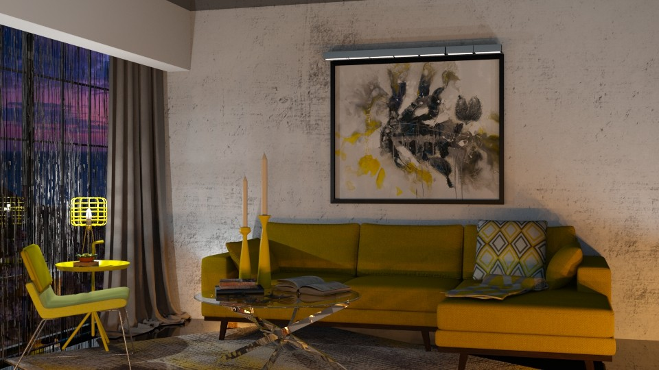 yellow living room - by cuneyt oznur