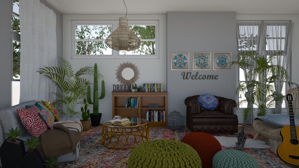 Boho living room - Living room - by sillvie