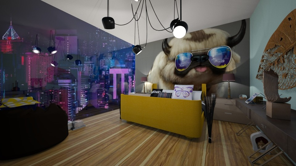 Teen City Bedroom - Modern - Bedroom - by bleeding star