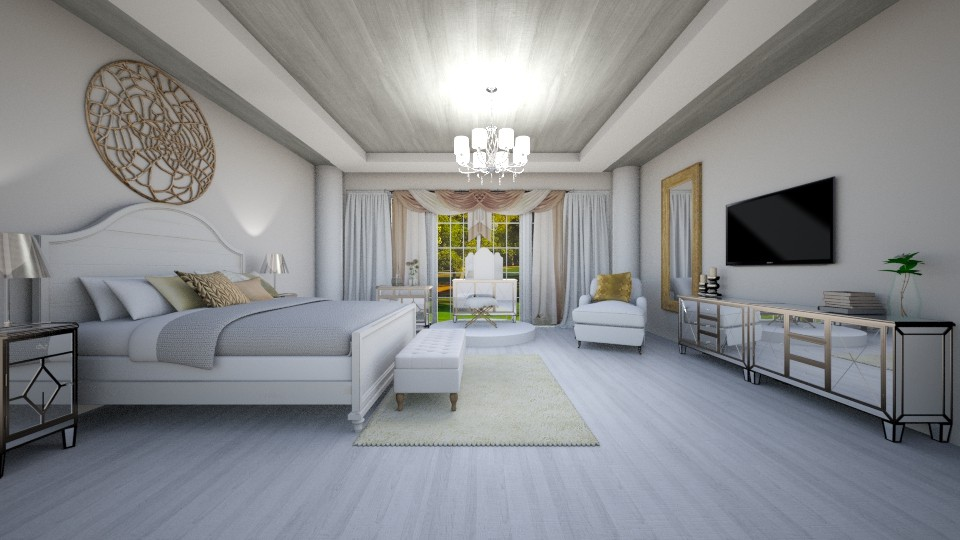 Guest bedroom - Classic - Bedroom - by UloveTashi Designs