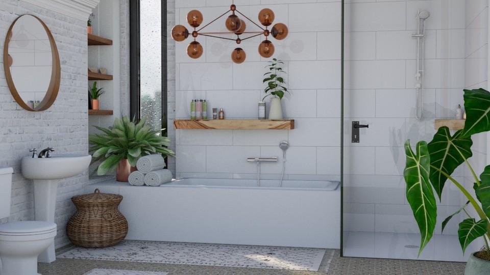 B O H O B A T H - Bathroom - by Kelli Mallory