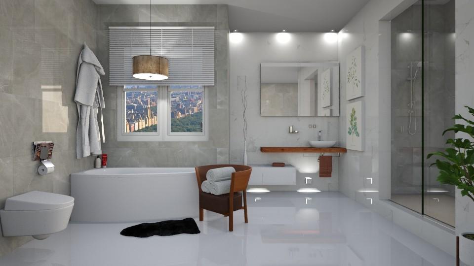 Marble Bathroom - Bathroom - by DeborahArmelin