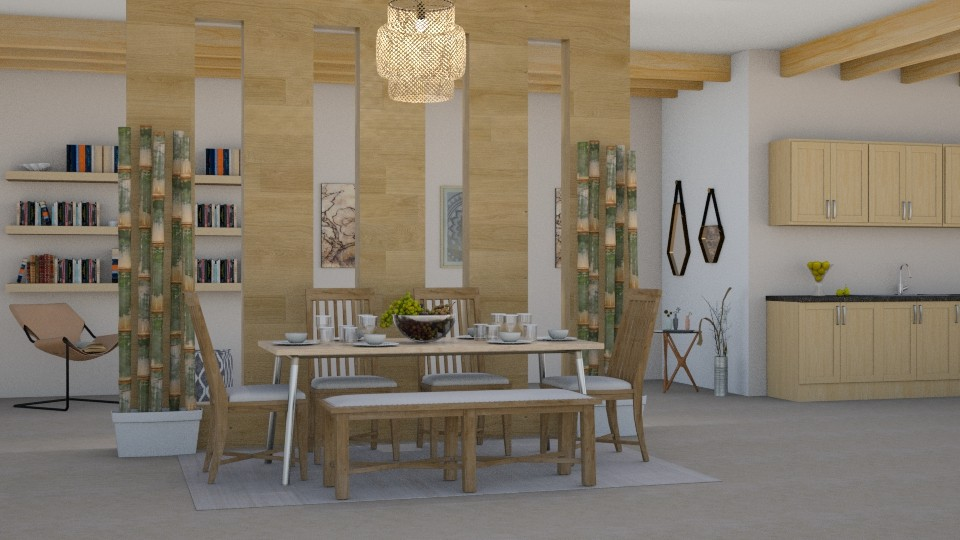 Wood - Modern - Dining room - by millerfam