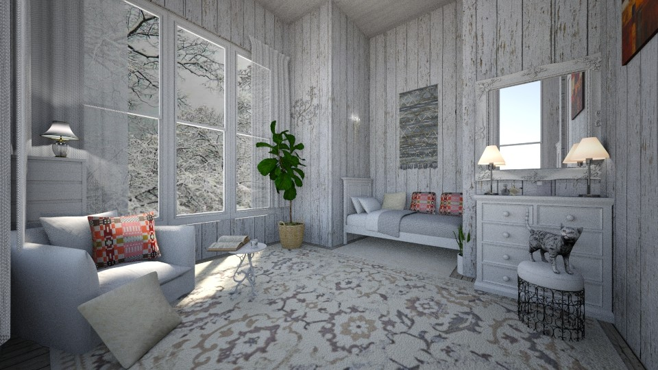 winter cabin - Living room - by sandra_a