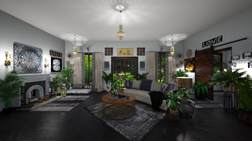 Modern Bohemian  - Eclectic - Living room - by Kelly Carter