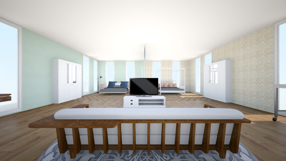 2 Person Room Modern Bedroom By Okeanos