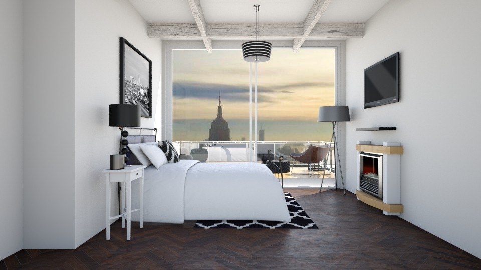 City View - Bedroom - by CatLover0110