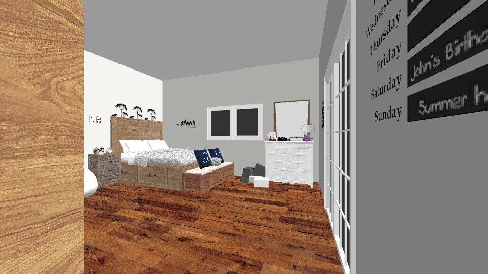 girls bedroom - Modern - Bedroom - by Summeja Hondo