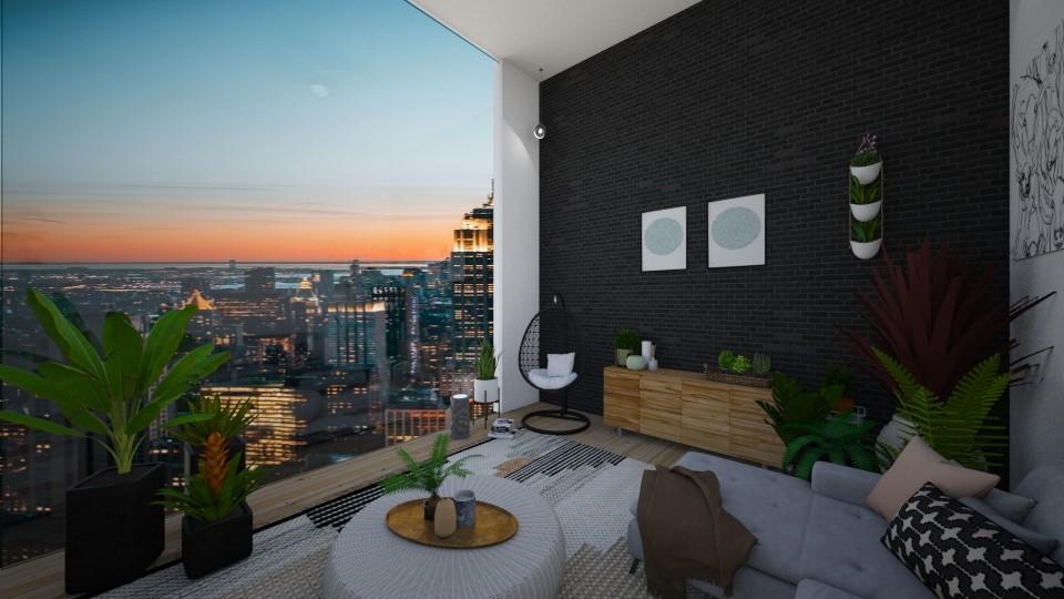 urban jungle living room - Living room - by td123