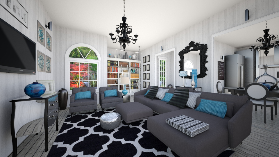 Silver Blues - Modern - Living room - by CreativeCE