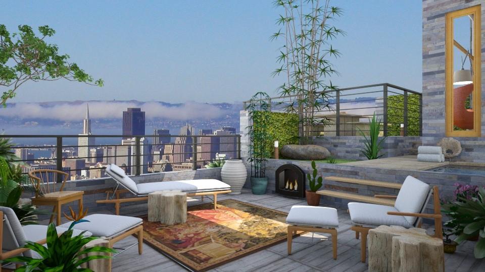 terraced garden terrace - Modern - Garden - by russ