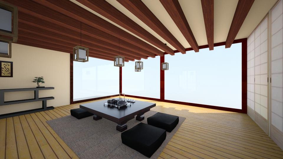 Japan - Minimal - Living room - by Larise