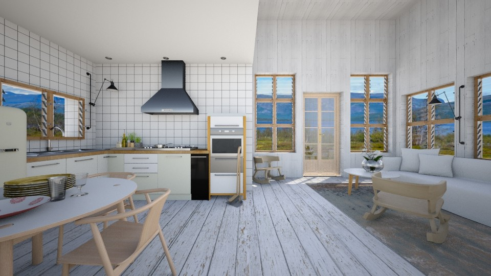swedish summer house - Kitchen - by amandafern
